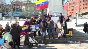 Venezuelans hold protest in Halifax